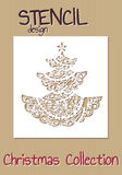 Stencil design template. Christmas collection Stock Image