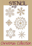 Stencil design template. Christmas collection Stock Photography