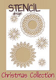 Stencil design template. Christmas collection Royalty Free Stock Photos