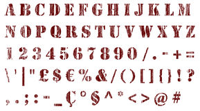 Stencil distressed characters Stock Photo