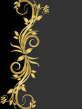 Stencil of gold flowers. Stencil with gold flowers, vector art illustration Stock Photography