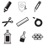 Stencil Icons Royalty Free Stock Photography