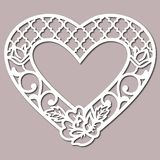 Stencil Lacy Hearts With Carved Openwork Pattern Template For Interior Design Layouts Wedding. Print Graphic Vinyl, Vinyl Decal Home Décor, Stencil, Template vector illustration
