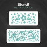 Stencil. Laser template. Pattern for decorative panel. Royalty Free Stock Photography