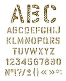 Stencil letters set. Royalty Free Stock Photography
