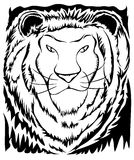 Stencil Lion. Stencil type of illustration of a lion with great negative space and contrast Royalty Free Stock Image