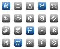Stencil matt buttons for business Stock Image