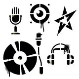 Stencil music icons Royalty Free Stock Photography