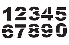 Stencil numbers Royalty Free Stock Image