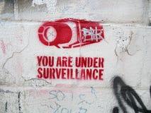 Stencil op Horizontale Muur - Royalty-vrije Stock Fotografie