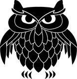 Stencil of owl Royalty Free Stock Photo