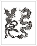 dragon & swan Stock Photos