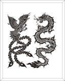 dragon & swan Stock Photos