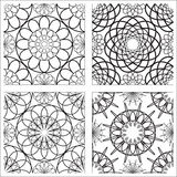 Stencil patterns. On a white background Royalty Free Stock Images