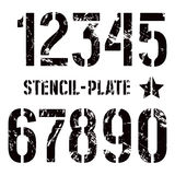 Stencil-plaat aantallen in militaire stijl royalty-vrije illustratie