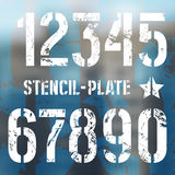 Stencil-plate numbers in military style Stock Image