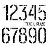 Stencil-plate numbers in military style Royalty Free Stock Photos