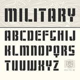 Stencil-plate sans serif font Royalty Free Stock Photos