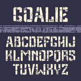 Stencil-plate sans serif font in the sport style Stock Images