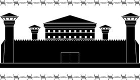 Stencil of prison Royalty Free Stock Photos