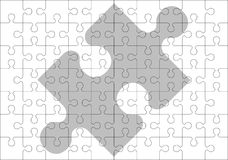 Stencil of puzzle pieces Stock Images