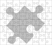 Stencil of puzzle pieces Royalty Free Stock Image
