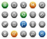 Stencil round buttons for business vector illustration