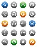 Stencil round buttons for internet vector illustration