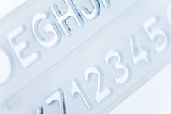 Stencil ruler Royalty Free Stock Images