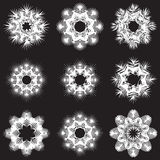 Stencil set of snowflakes Stock Photography