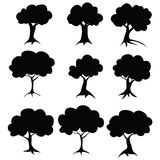 Stencil trees. Raster #1 #1 Royalty Free Stock Photography