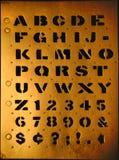 Stencil type Stock Image