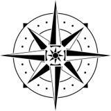 Stencil van kompas Stock Afbeeldingen