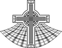 Stencil van Schots Keltisch kruis Stock Foto's
