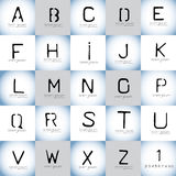Stencil vector alphabet and logo design elements logo set Stock Photo