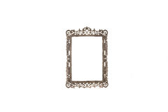 Old antique silver frame over white background Stock Images