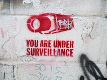 Stencil on Wall - Horizontal Royalty Free Stock Photography
