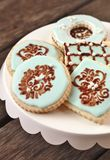 Stenciled Cookie Attempt Stock Images