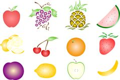Stenciled Country Fruit Royalty Free Stock Image