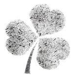 Stenciled Irish clover Stock Photo