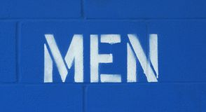 Stenciled men restroom sign Stock Image