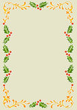Stenciled old world X-Mas frame Stock Image