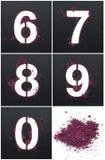 Stenciler från kosmetiska produkter Royaltyfri Fotografi
