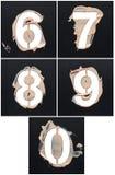 Stenciler från kosmetiska produkter Arkivbild