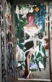 Stencilera konst i lägre östlig sida i Manhattan royaltyfri foto