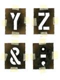 Stencils Stock Photo