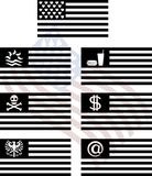 Stencils of fantasy usa flags Stock Image