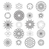 Stencils flowers Royalty Free Stock Image