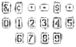 Stencils in spray paint Royalty Free Stock Photos