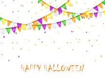 Stendardi e coriandoli di Halloween Fotografia Stock
